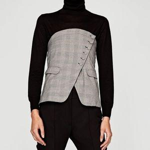 Zara Checkered Corset Top